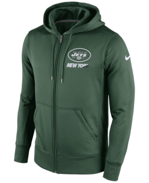 Nike Men's New York Jets Sideline Ko Fleece Full-Zip Hoodie plus size,  plus size fashion plus size appare