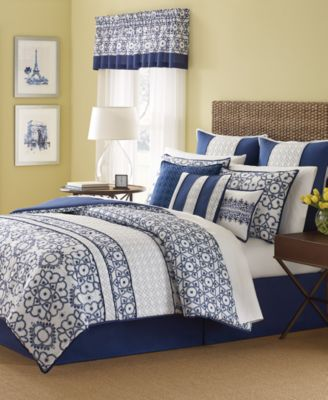 Martha Stewart Collection Lotus Medallion 9-Piece California King Comforter Set, Only at Macy's