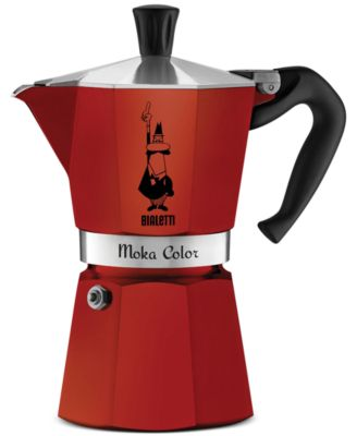 Bialetti Red Moka Express 6-Cup Stovetop Espresso Maker