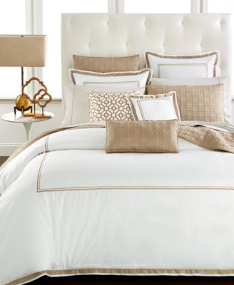 Embroidered Frame Twin Duvet Cover, Created for Macy's