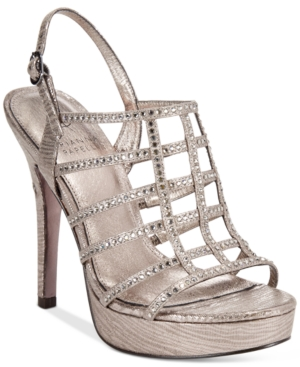 Adrianna Papell Maya Evening Embellished Platform Sandals Women's Shoes