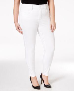 Melissa McCarthy Seven7 Plus Size High-Rise White Wash Pencil Jeans
