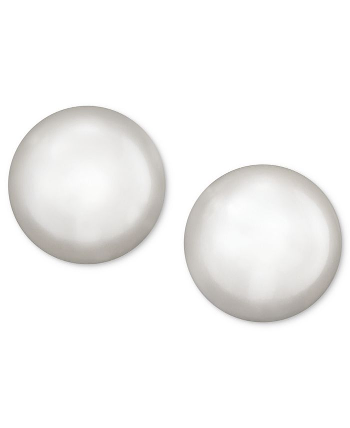 Belle de Mer - Pearl Earrings, 14k Gold Cultured Akoya Pearl Stud Earrings (6mm)
