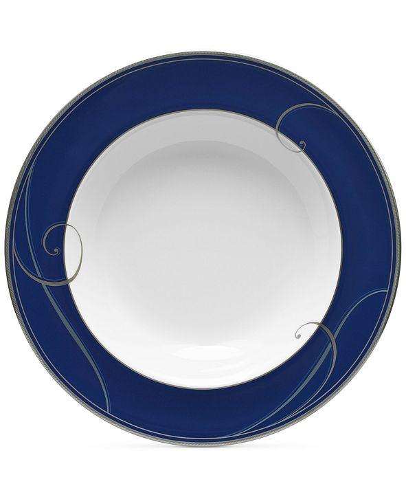 Noritake Platinum Wave Indigo Porcelain Soup Bowl
