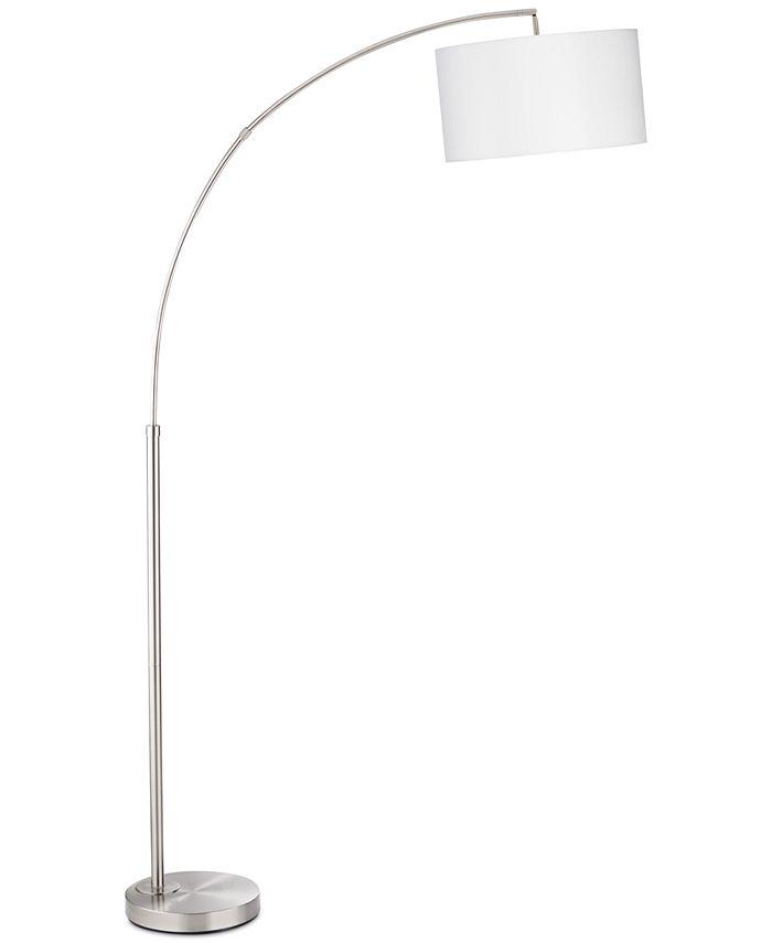 Kathy Ireland - Brush Steel Arc Floor Lamp