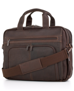Kenneth Cole Reaction Leather Double Gusset Portfolio, Columbia Expandable Laptop Friendly Business Case