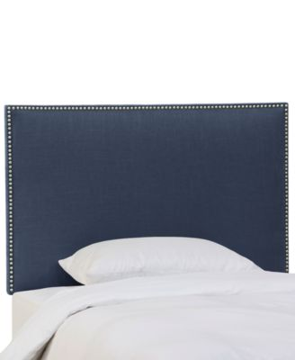 Chante Full Linen Button-Border Headboard, Direct Ships for $9.95!