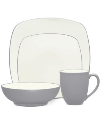 Noritake Colorwave Slate Stoneware 4-Pc. Square Place Setting, A Macy's Exclusive Style