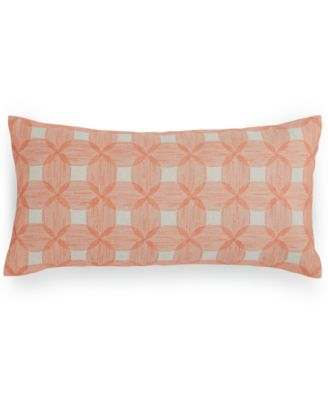 "Hotel Collection Textured Lattice Linen 12"" x 24"" Decorative Pillow, Only at Macy's"