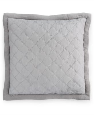 Hotel Collection Linen Turquoise Quilted European Sham, Only at Macy's