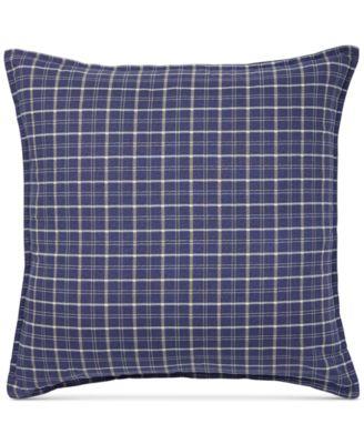 """Tommy Hilfiger Vintage Plaid 18"""" Square Decorative Pillow"""