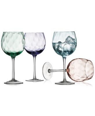 The Cellar Optic Color Collection 4-Pc. Wine Glasses, Only at Macy's