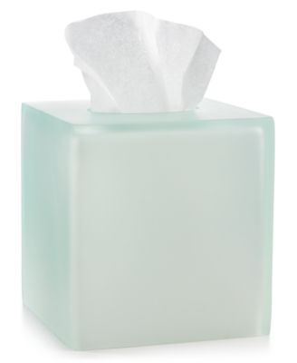 Martha Stewart Collection Sea Glass Frost Tissue Box, Only at Macy's