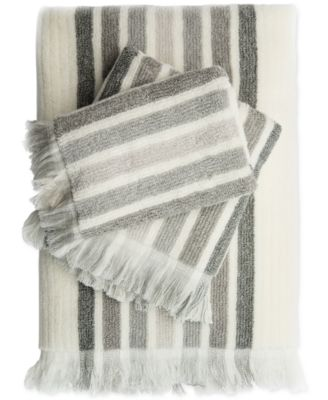 Caro Home Milano Heather Stripe Bath Towel