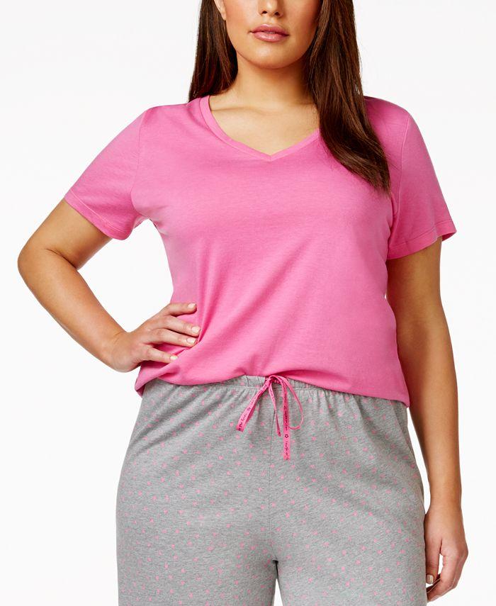 Hue - Plus Size V-Neck Pajama Top