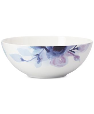 Lenox Indigo Watercolor Floral Porcelain Serving Bowl, a Macy's Exclusive Style