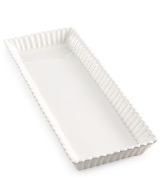 Martha Stewart Collection Ceramic Scallop Tray, Only at Macy's