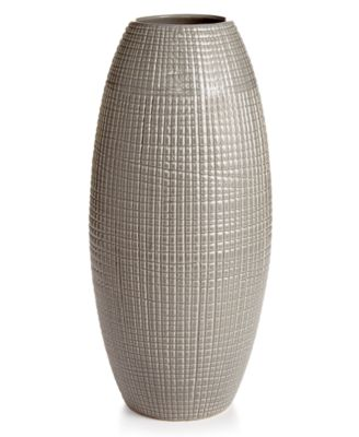 Home Design Studio Oversized Crosshatch Vase, Only at Macy's