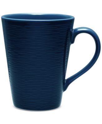 Noritake Navy-On-Navy Swirl Mug