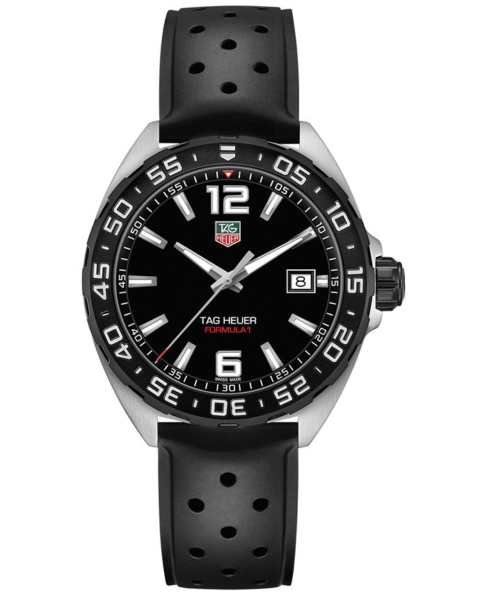 TAG Heuer - Men's Swiss Formula 1 Black Rubber Strap Watch 41mm WAZ1110.FT8023
