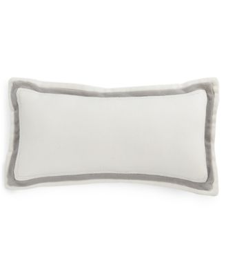 "Hotel Collection Linen Fog 10"" x 20"" Decorative Pillow, Only at Macy's"