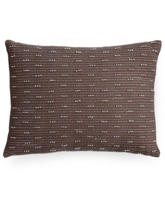 "Calvin Klein Mesa Stitch Knot 12"" x 16"" Decorative Pillow"