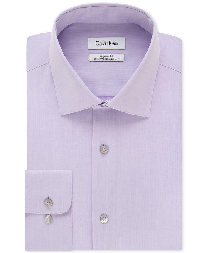 Calvin Klein - STEEL Men's Classic Fit Non-Iron Performance Solid Dress Shirt