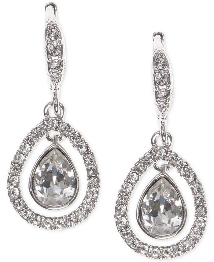 Givenchy - Crystal Orbital Pavé Drop Earrings