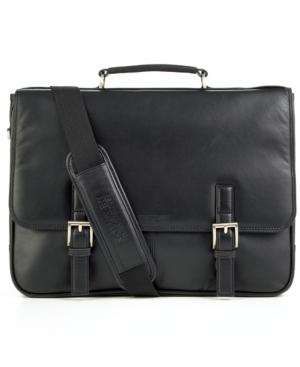 Kenneth Cole Single Gusset Messenger Bag, Expandable Laptop Friendly Case