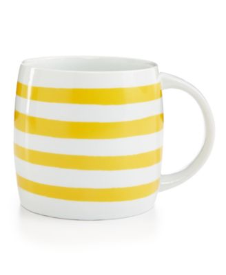 Whim by Martha Stewart Collection Mugs Collection Yellow Stripe Mug, Only at Macy's