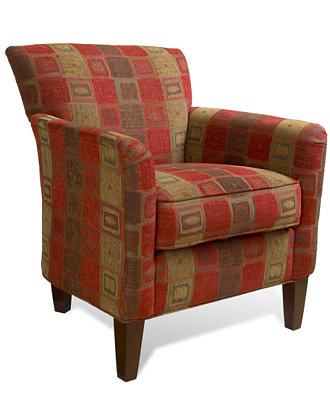 Mars Crimson Living Room Chair Furniture Macy 39 S