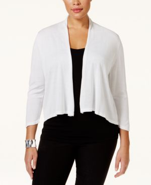 Inc International Concepts Plus Size Shawl-Collar Cardigan Sweater, Only at Macy's