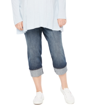 Motherhood Maternity Cropped Jean Dark Wash plus size,  plus size fashion plus size appare