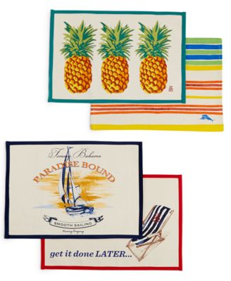 Tommy Bahama Placemat Collection Get It Done Later Placemat
