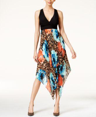 Thalia Sodi Printed Pleated Halter Dress Only at Macys