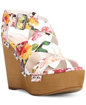 Fergalicious Libby Platform Wedge Sandals Women's Shoes
