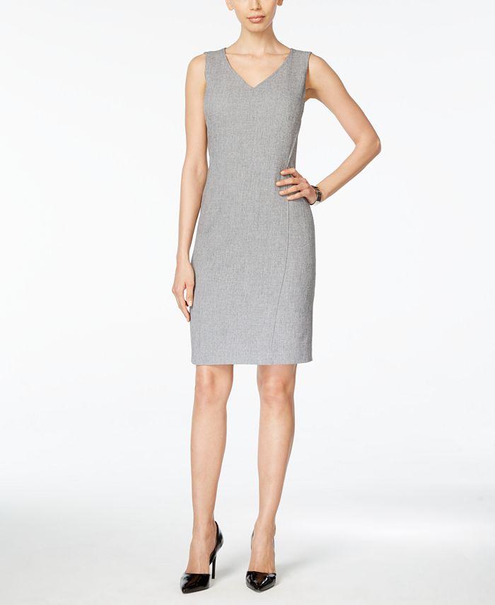 Kasper - V-Neck Sheath Dress