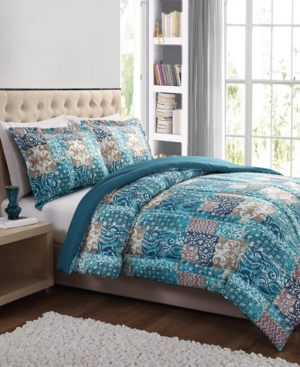 Painted Patchwork 3-Pc. Comforter Sets