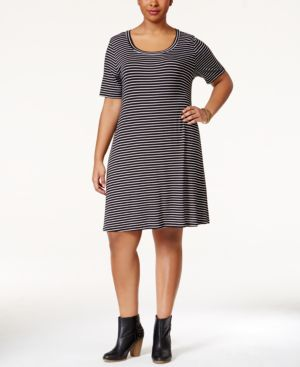 American Rag Plus Size Striped Dress, Only at Macy's