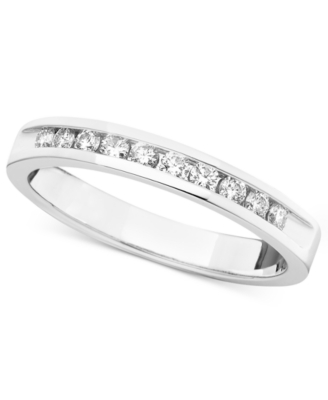 14k White Gold Diamond Certified Band (1/4 ct. t.w.)