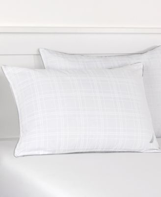 Nautica Plaid Silver Cord King Pillow