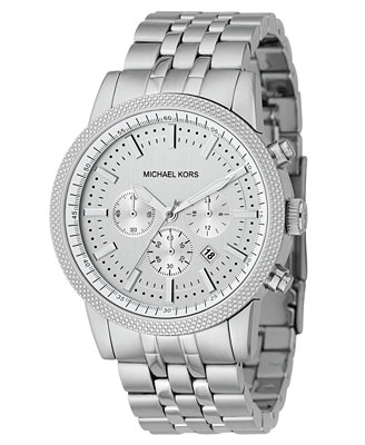 michael kors s chronograph scout stainless steel