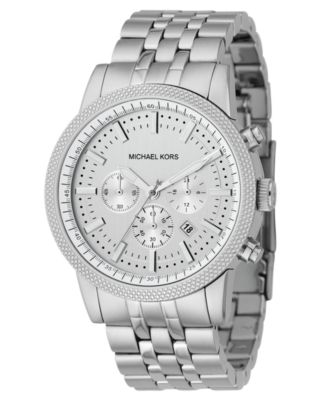 Michael Kors Watch Mens Chronograph Scout Stainless Steel Bracelet 43mm MK8072