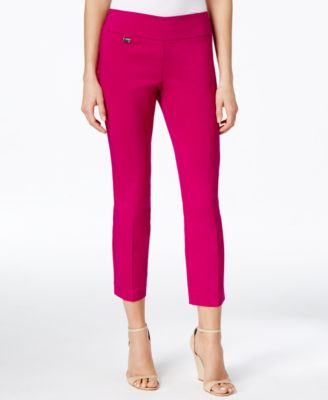 Image of Alfani Petite Tummy-Control Pull-On Capri Pants, Only at Macy's