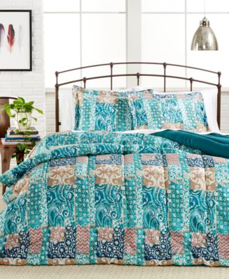 Painted Patchwork 3-Pc. Full/Queen Comforter Set