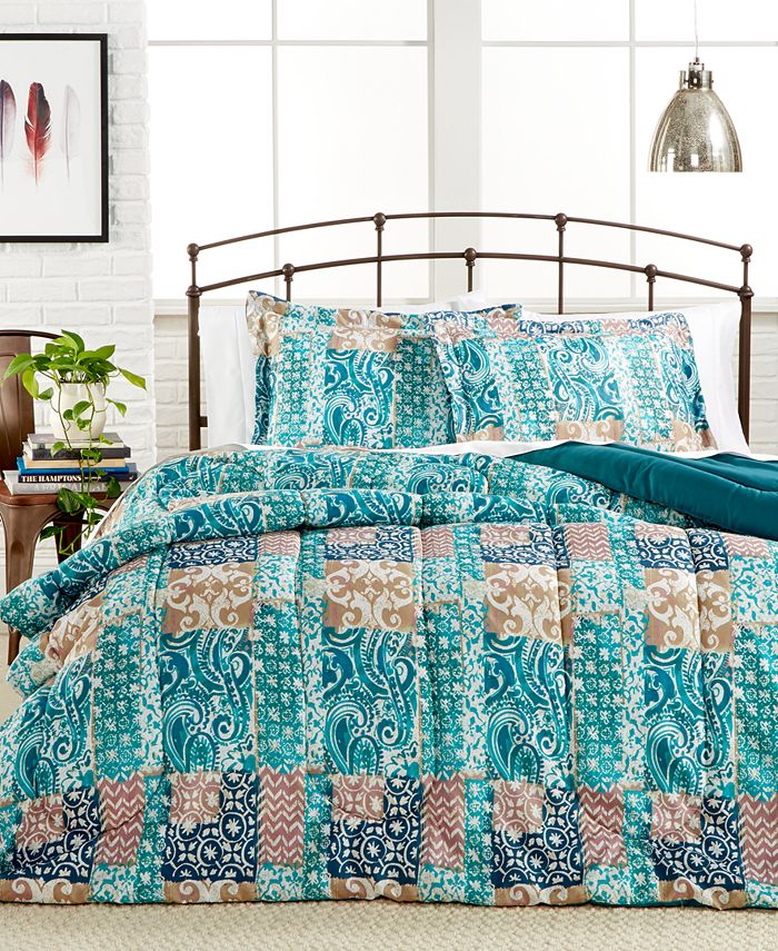 Pem America - Painted Patchwork 2-Pc. Twin Comforter Set