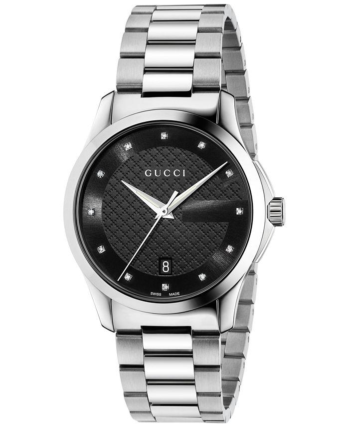 Gucci - Unisex Swiss G-Timeless Diamond Accent Stainless Steel Bracelet Watch 38mm YA126456