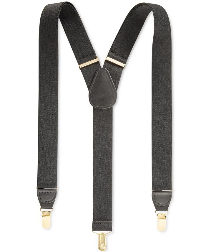 Club Room - Men's Solid Suspenders