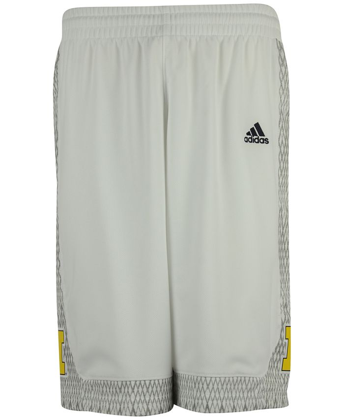 adidas - Men's Michigan Wolverines Iced Out Replica Basketball Shorts