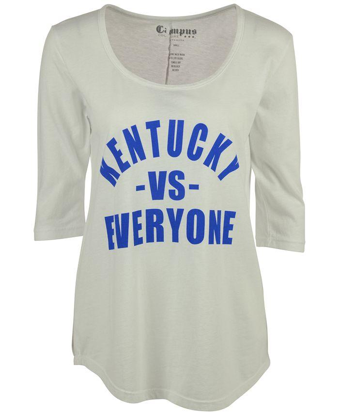 Retro Brand - Women's Kentucky Wildcats Kat Vs Everyone Mock Twist T-Shirt